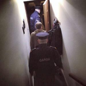 Paul Murphy TD being arrested