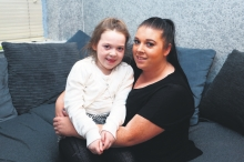 Lisa Cawley with her daughter Erika. Photo by Darren Kinsella